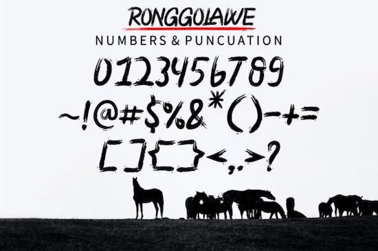 Ronggolawe font free