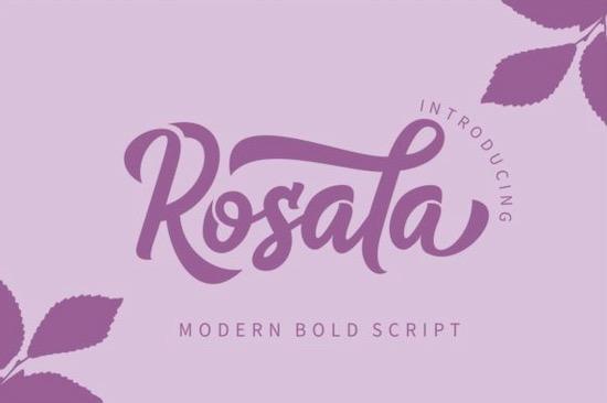 Rosala font free download