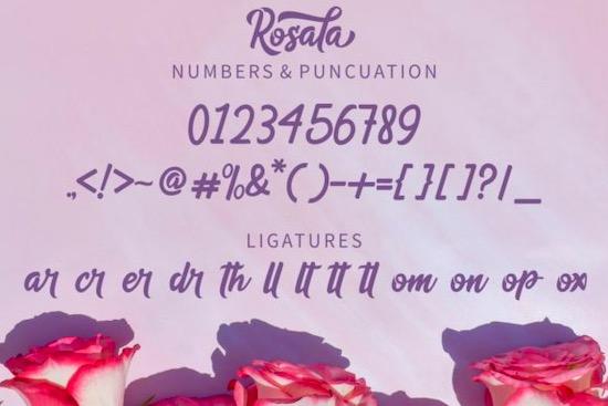 Rosala font free