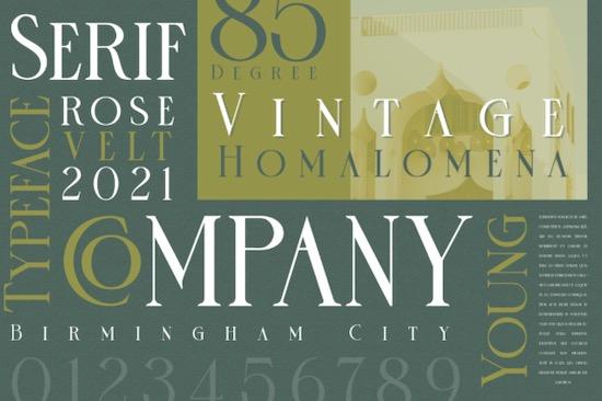 Rose Velt font