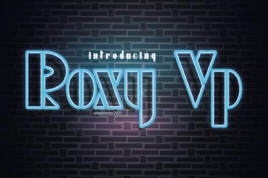 Roxy Vp font free download