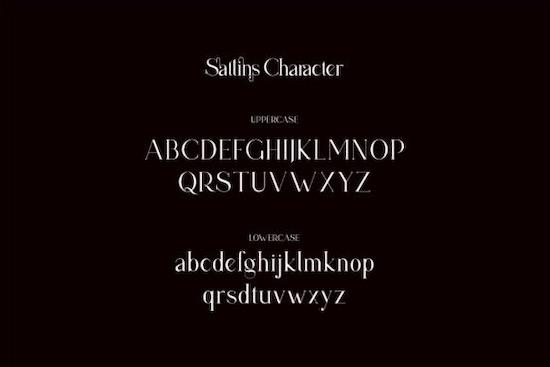 Sattins font download