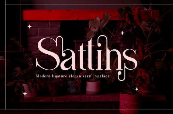 Sattins font free download