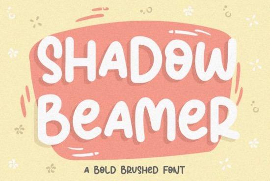 Shadow Beamer font free download