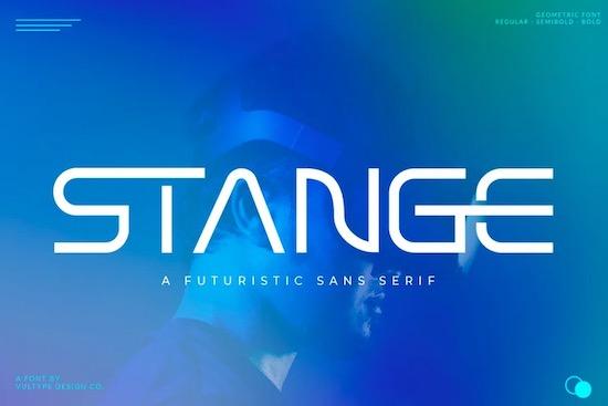 Stange font free download