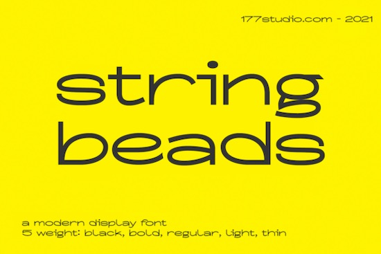 String Beads font free download