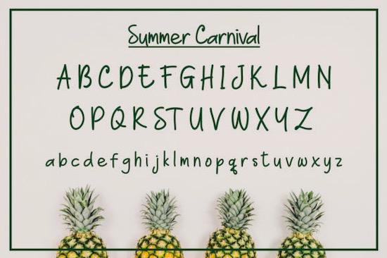 Summer Carnival font download