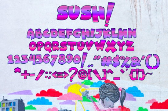 Sush! font download