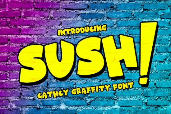 Sush! font free download