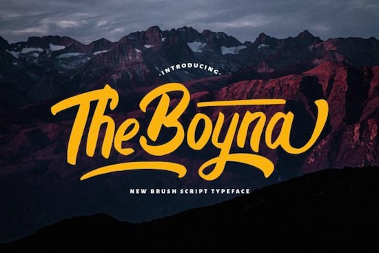 The Boyna font free download