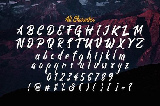 The Boyna font free