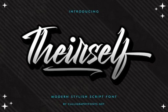 Theirself font free download