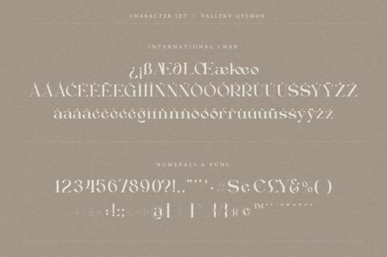 Vallery Qylmor font free