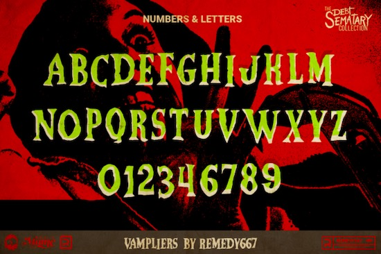 Vampliers font download