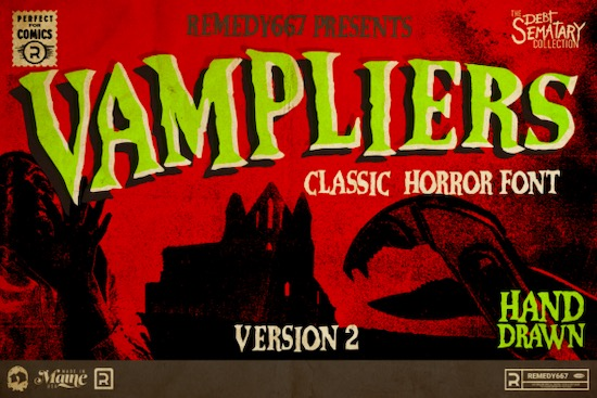 Vampliers font free download