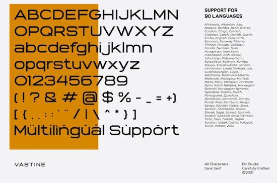 Vastine font free