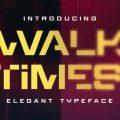 Walktimes font free download