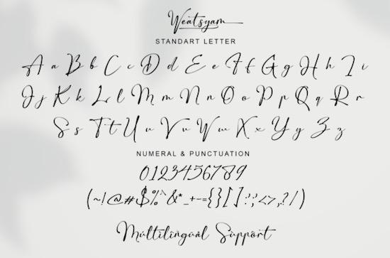 Weatsyam font download