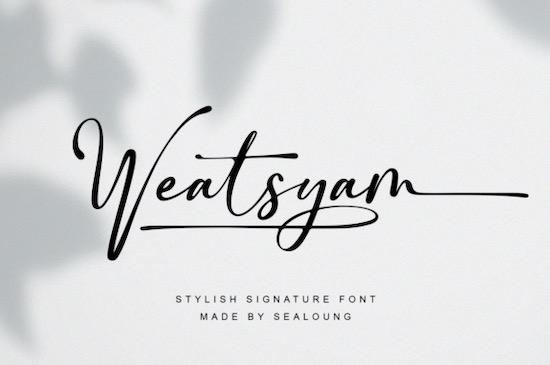 Weatsyam font free download