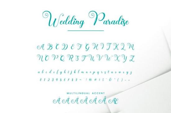 Wedding Paradise Font download