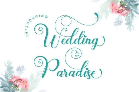 Wedding Paradise Font free download