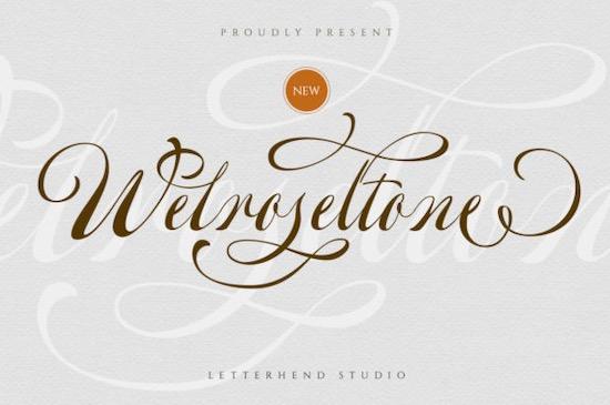 Welroseltone font free download