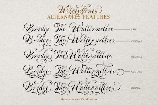 Welroseltone font free