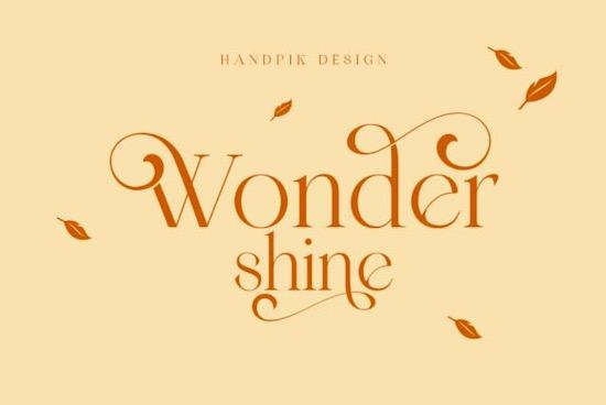 Wondershine font free download