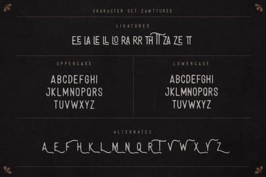 Zawtturee font download