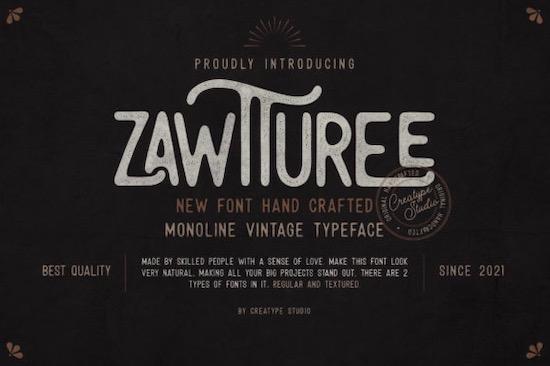 Zawtturee font free download