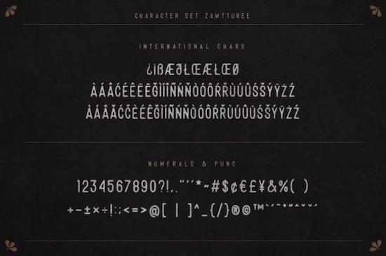 Zawtturee font free