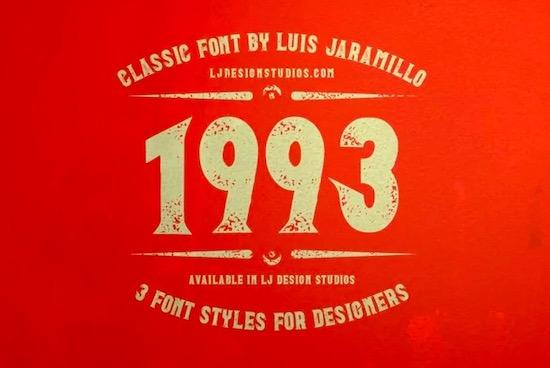 1993 Font free download
