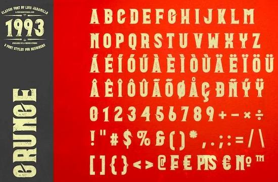 1993 Font free