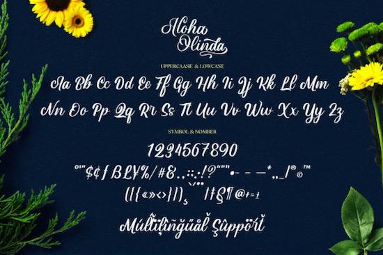 Aloha Olinda Font free