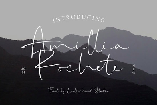 Amillia Rochete Font free download