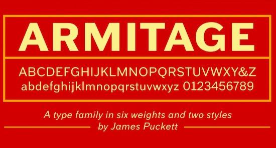 Armitage font free download