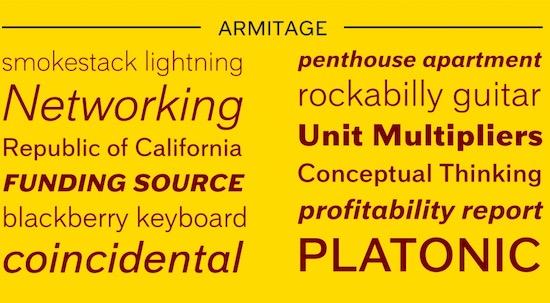 Armitage font free
