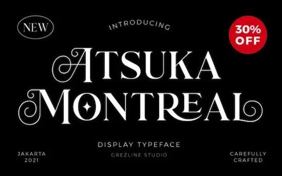 Atsuka Montreal Font download