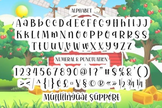 Beautiful Farmhouse Font download