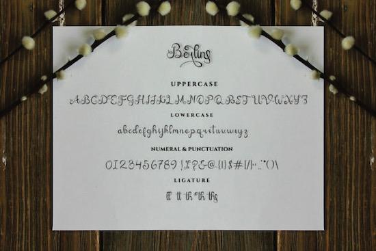 Berlin Calligraphy Font download