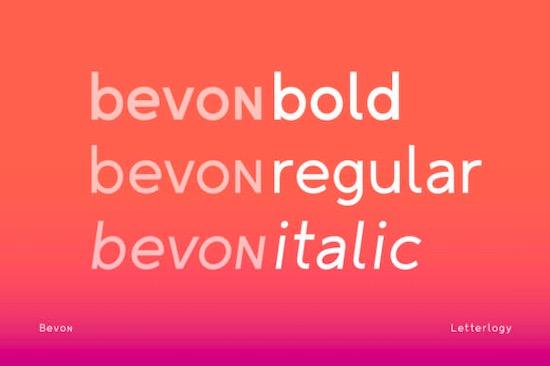Bevon Font free