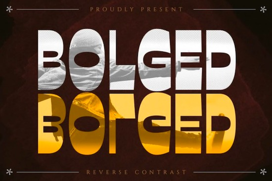 Bolged Font