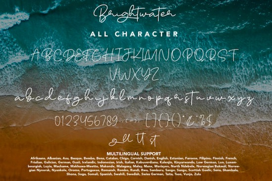 Brightwater Font download