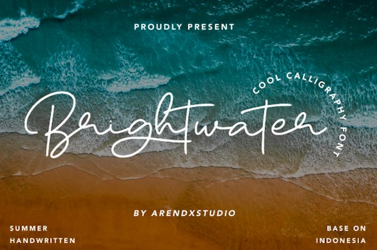Brightwater Font free download
