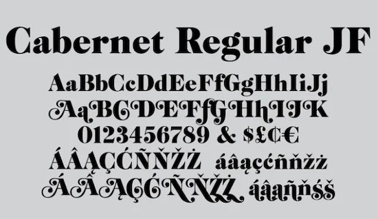 Cabernet JF Font download