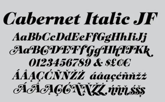 Cabernet JF Font free