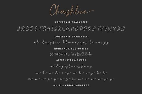 Cherishline Font download