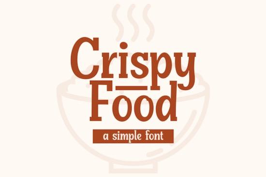 Crispy Food Font free download