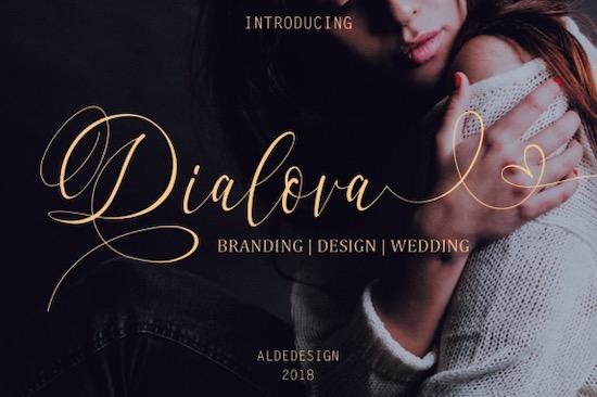 Dialova Font free download