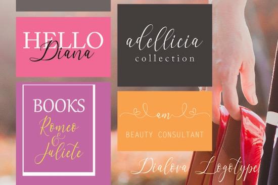 Dialova Font free
